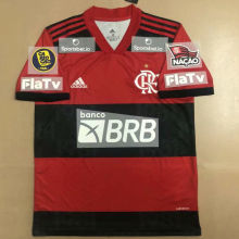 2021/22 Flamengo 1:1 Home Fans Soccer Jersey ( All AD 新全广告 Have CA RIO CA FINAL Patch有臂章)