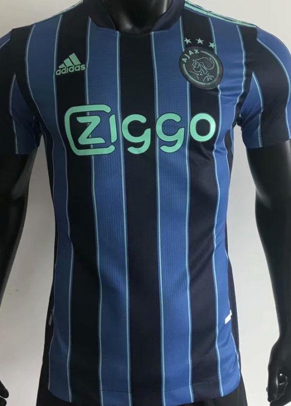 2021/22 Ajax Away Blue BlackPalyer Soccer Jersey