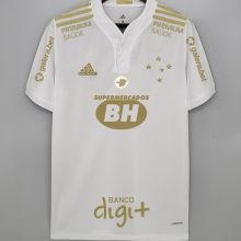 2021/22 Cruzeiro Away White Fans Soccer Jersey(All AD全广告)