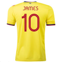 JAMES #10 Colombia 1:1 Quality Home Yellow Fans Soccer Jersey2021/22