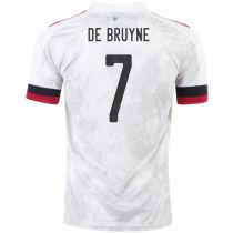 DE BRUYNE #7 Belgium 1:1 Quality Away Fans Soccer Jersey2021/22