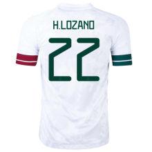 H.LOZANO #22 Mexico Away White Fans Soccer Jersey2020/21