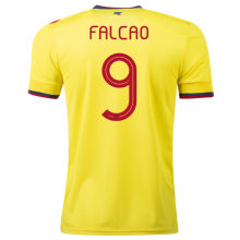 FALCAO #9 Colombia 1:1 Quality Home Yellow Fans Soccer Jersey2021/22