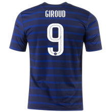 GIROUD #9 France Home 1:1 Quality Fans Soccer Jersey 2020/21