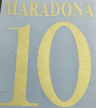 2021 Argentina Jersey MARADONA #10 Fonts 阿根廷金色字体