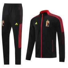 2021/22 Belgium Black Jacket Tracksuit