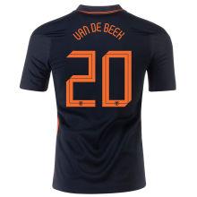 VAN DE BEEK #20 Netherlands 1:1 Quality Away Fans Jersey 2020/21