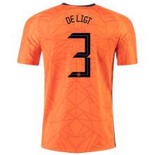 DE LIGT #3 Netherlands 1:1 Quality Home Fans Jersey 2020/21