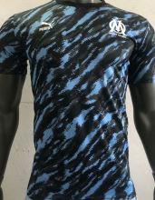 2021/22 Marseille Black Blue Player Training Jersey