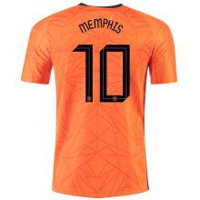 MEMPHIS #10 Netherlands 1:1 Quality Home Fans Jersey 2020/21