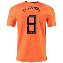 WIJNALDUM #8 Netherlands 1:1 Quality Home Fans Jersey 2020/21