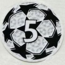 2021/22 UEFA Champion League New Sleeve Badge 5字杯