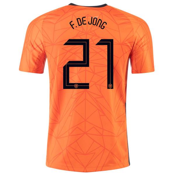 F.DE JONG #21 Netherlands 1:1 Quality Home Fans Jersey 2020/21