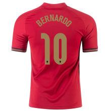 BERNARDO #10 Portugal 1:1 Quality Home Fans Jersey 2020/21