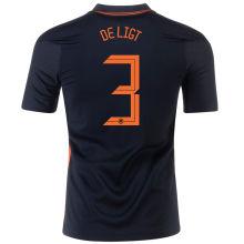 DE LIGT #3 Netherlands 1:1 Quality Away Fans Jersey 2020/21