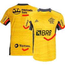 2021/22 Flamengo Yellow GK Soccer Jersey (New AD新广告)