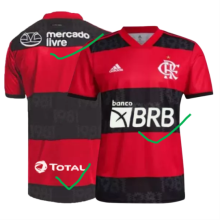 2021/22 Flamengo 1:1 Quality Home Fans Soccer Jersey (Have New AD有广告)