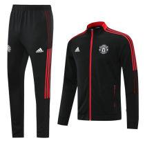 2021/22 M Utd Red Black Jacket Tracksuit