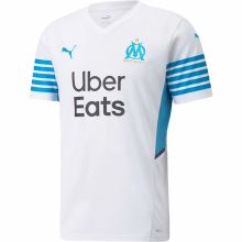 2021/22 Marseille Home 1:1 Quality White Fans Soccer Jersey