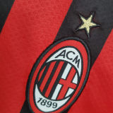 2021/22 AC Milan Home Red And Black Kids Soccer Jersey
