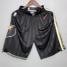 2021 Grizzlies City Edition Black NBA Pants