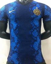 2021/22 In Milan Home Blue Black Player Version Soccer Jersey