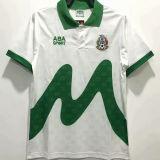 1995 Mexico Away White Retro Soccer Jersey