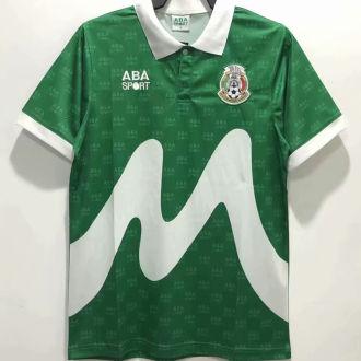 1995 Mexico Home Green Retro Soccer Jersey