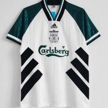 1993/95 LFC Away White Green Retro Soccer Jersey