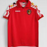 1995 Belgium Home Red Retro Soccer Jersey