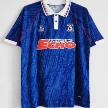 1992-1993 Cardiff City Home Blue Retro Soccer Jersey