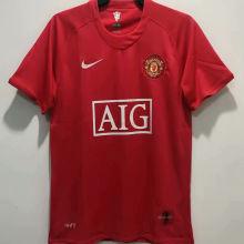 2007-08 M Utd Home Red Retro Soccer Jersey League Version 联赛版