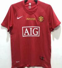2007-08 M Utd home Red Retro Soccer Jersey UCL Version 欧冠版