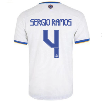 Sergio Ramos #4 RM Home Player Version Jersey 2021/22 球员版