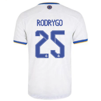 Rodrygo #25 RM Home Player Version Jersey 2021/22 球员版