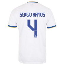 SERGIO RAMOS #4 RM Home 1:1 Quality Fans Soccer Jersey 2021/22