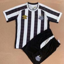 2021/22 Santos White Black Kids Soccer Jersey