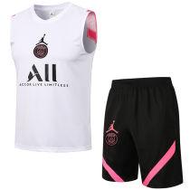 2021/22 PSG White Vest Short Training Jersey (A Set)