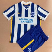 2021/22 Brighton Home White Blue Kids Soccer Jersey