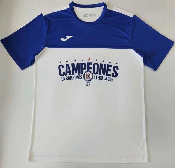 2021 Cruz Azul White CAMPEONES Soccer Jersey