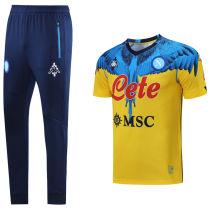 2021 Napoli Marcelo Burlon Limited Edition Yellow Training Tracksuit (LH 长裤套装)