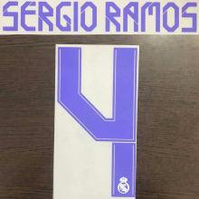 2021/22 RM SERGIO RAMOS #4 Home Jersey Fonts 黄码主场字体