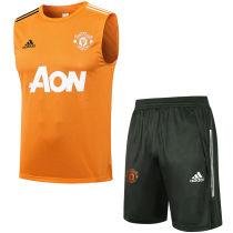 2021/22 M Utd Orange Vest Short Training Jersey (A Set)