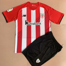 2021/22 Bilbao Athletic Home Red And White Kids Soccer Jersey
