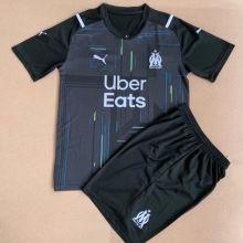 2021/22 Marseille Black GK Kids Soccer Jersey