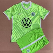 2021/22 Wolfsburg Home Green Kids Soccer Jersey