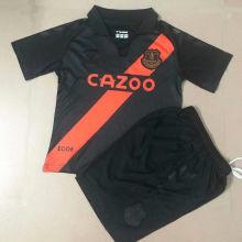 2021/22 Everton Away Black Kids Soccer Jersey