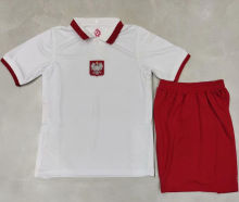 2021/22 Poland Home White Kids Soccer Jersey