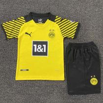 2021/22 BVB Home Yellow Kids Soccer Jersey