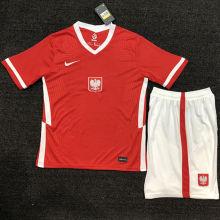 2021/22 Poland Away Red Kids Soccer Jersey